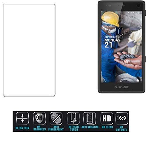 k-s-trade® per fairphone fairphone 2 pellicola vetro temperato ultra-clear screen protector film protettiva resistente format: 16:9, non copre le parti laterali