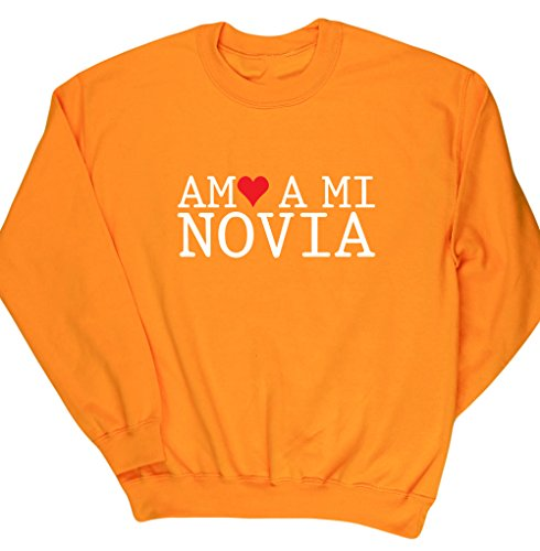 HippoWarehouse Amo A Mi Novia jersey sudadera suéter derportiva unisex
