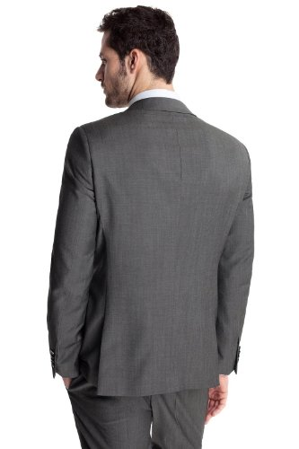 ESPRIT Collection Herren Anzugsjacke Slim Fit N34216 Grau (ash grey 024)