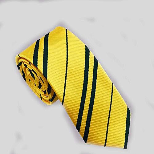 Multiculture Harry Potter Krawatte Gryffindor Ravenclaw Hufflepuff Slytherin Kostüm (Hufflepuff-gelb)