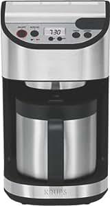 Krups YY 8304 FD Cafetière à Filtre 1100 W 10 Tasses Noir / Inox