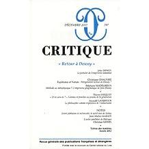 Critique, N° 787, Décembre 201 : Retour à Dewey