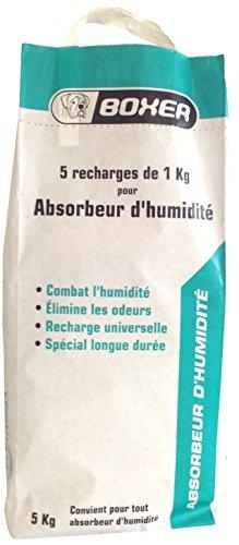 Soudal Boxer - Sacco con 5 ricariche di assorbi-umidità, 5 x 1 kg