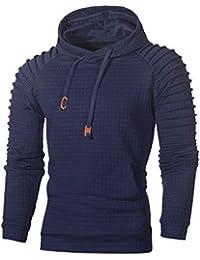 ad8677bcc083a8 Riou Herren Langarm Hoodie Sweatshirt Slim fit Sweatjacke Kapuzenpullover  PulloverT-Shirt Baumwoll Outwear Männer…