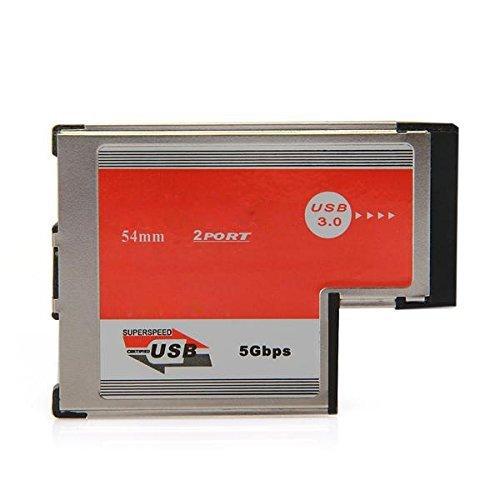TOOGOO(R) 2 Port USB 3,0 ExpressCard Karte ASM Chip 54mm PCMCIA-Express-Card fuer Notebook
