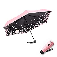 Meiyijia Lightweight Travel Umbrella,Mini Umbrella, Waterproof - UV Resistance, Sturdy Compact and Portable