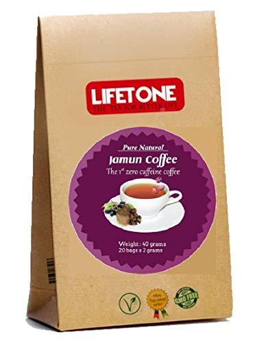 Fagiolo arrostito di Java (Jamun), caffè allo zenzero delizioso senza caffeina, 40 bustine, 80g