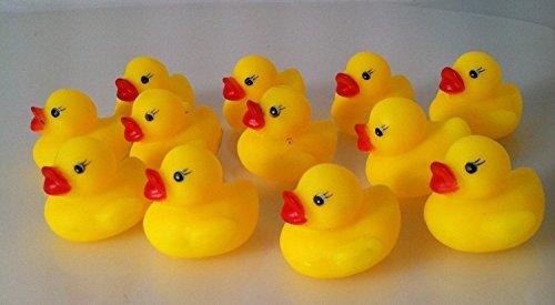 One Dozen (12) Mini Rubber Ducks Duckie Baby Shower Birthday Party Favors