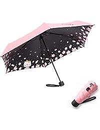 MEIYIJIA Paraguas Plegable a Prueba de Viento y Agua Anti UV Durable Paraguas de Viaje