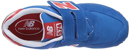 New Balance KG574, Sneakers Bambino Blu (BRY BLUE/RED)