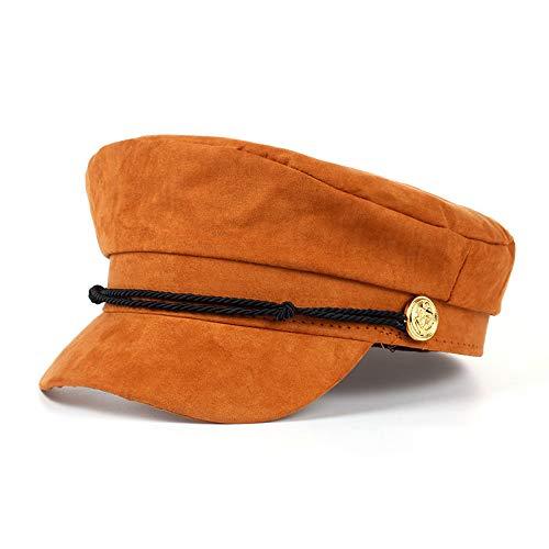 Wildleder Newsboy Cap Hat (ERQINGBM Barett Marine Mütze Hut Weibliche Winter Baseballmütze Für Frauen Männer DamenHut WildlederSchirmmützeSailor Hat Bone Male)