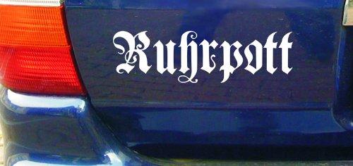 cartattoo4you AK-01598 | RUHRPOTT - Fraktur / altdeutsche Schrift | Autoaufkleber Aufkleber...