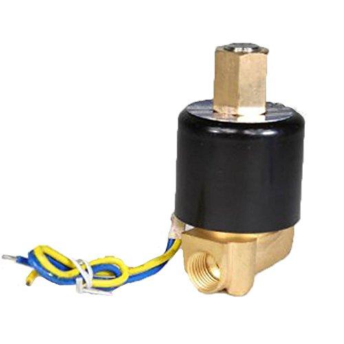 DC 12V 2-Wege 1/10,2cm Messing Gas Wasser Air elektrische Magnetventil Normalerweise offen N/O (Offene Normalerweise Magnetventil)