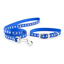 Ancol Small Bite Heart Collar and Lead Set, Blue