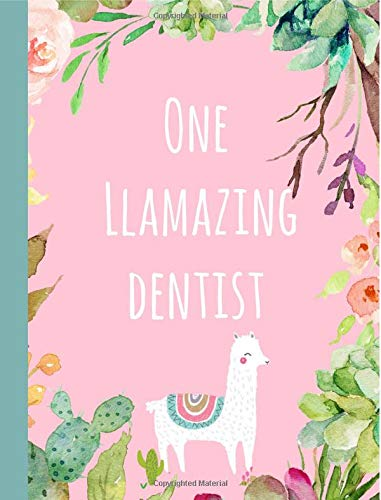 One Llamazing Dentist: Gifts,Notebook,Notepad,Christmas,Birthday,Dentistry,Graduation,Graduate,Lined paper por Blueberry Notebooks