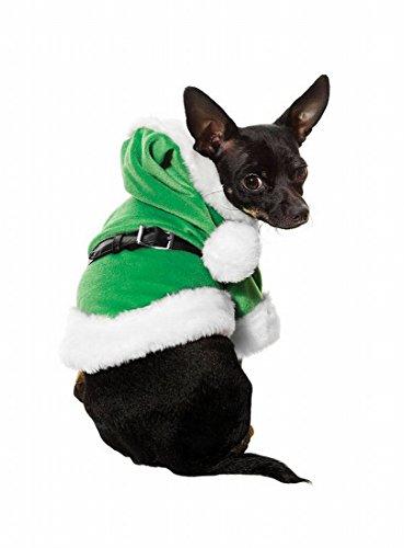 Leg Avenue - Jingle Bello Weihnachtself Hundekostüm, 3-teilig, grün - 21024 (Small) (Leg Avenue Belle Kostüm)
