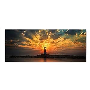 Vetro foto vetro faro Mare quadro 125 x 50 cm Float