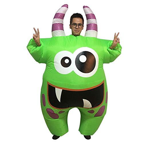 MIMI KING Aufblasbare Große Mund Monster-Kostüm, Lustige Cosplay Mit Großen Augen Fancy Kleid Halloween-Party,Adult