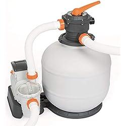 BESTWAY 58499 Filtre à Sable Flowclear 7.571 l/h, 220-240 V~/50 Hz, 280 W, TÜV/CE