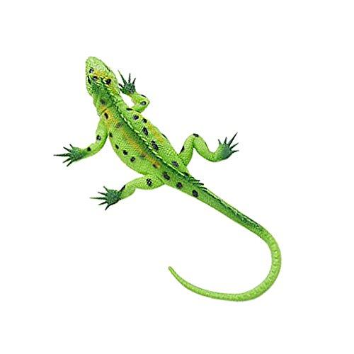 Sharplace Lebensechte Tiermodell Gummi Eidechse Lizard Modell mit Horn Piepton - 26x4,3cm