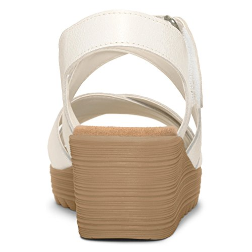 Aerosoles Handbog Large Cuir Sandales Compensés white