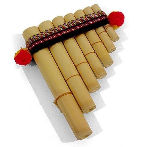 Easy to Use Antara Mini Peruvian Pan Pipes - Percussion Musical Instrument - Fair Trade -Free Postage