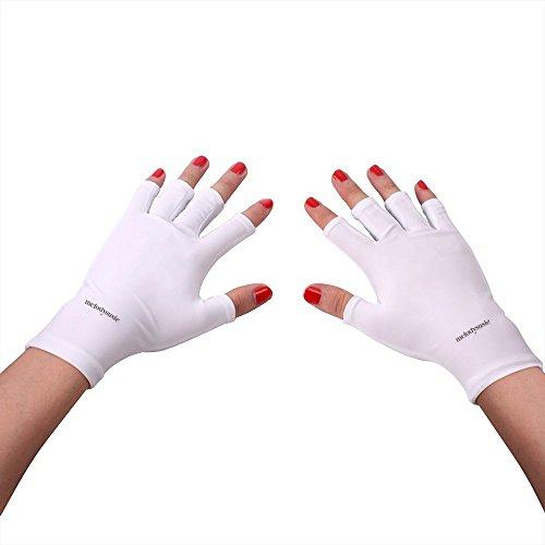 MelodySusie Zerfifizierte UV-Schutz Handschuhe Anti-UV-Handschuhe für Gel Maniküre mit UV Lampen &...