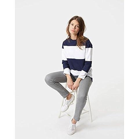Joules Womens Clemence Crew Neck Sweatshirt French Navy Stripe UK20