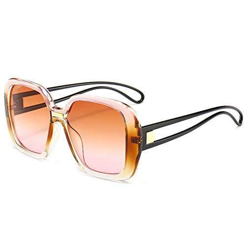 MINGMOU Hochwertige Quadrat Sonnenbrille FrauenMarkendesigner Vintage Retro Big Frame Sonnenbrille Weibliche Sonnenbrille Für Frauen Shades