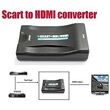 BW 1080P SCART a HDMI Video Audio Convertidor de alta gama AV Signal Adapter HD Receptor TV DVD SKY Box Reino Unido / UE Plug