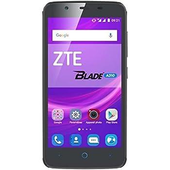 ZTE Blade A310 Smartphone portable débloqué 4G (Ecran: 5 pouces - 8 Go - SIM - Android M) Gris Foncé