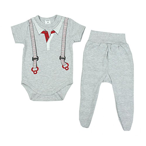 a 2 Pezzi TupTam Vestiti Set con Stampa per Bebe