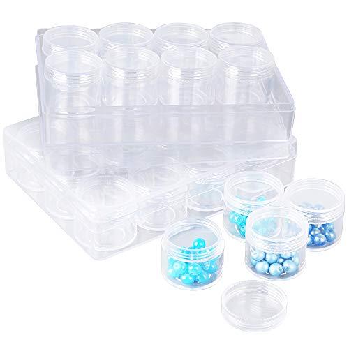 BUONDAC 24 Botes de Plástico Contenedores Tarros Cosmeticos Transparente Envases Cosmetica Organizador...