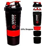 Indian Gifts Shoppee Red Spider Protein Shaker Bottle For Gym - 500ml (Assorted-Available Color Will Be Send)