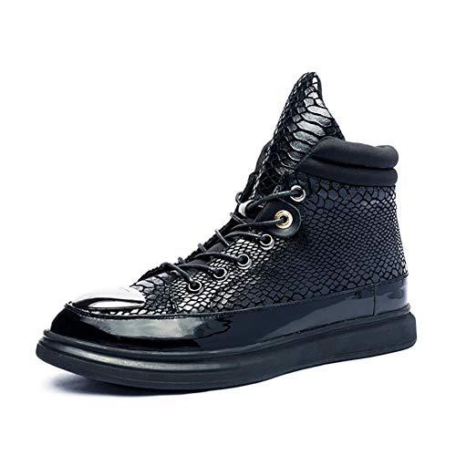 Scarpe Casual da Uomo, 2018 Nuove Scarpe in Pelle Primavera-Autunno, Sneakers Alte Comfort, Scarpe da Trekking da Trekking, Scarpe da Passeggio di Moda