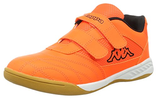 Kappa Unisex-Kinder Kickoff Teens Hallenschuhe Orange (4411 Orange/Black)