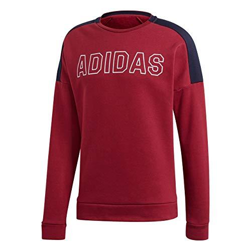 adidas Herren Sports ID Sweat Fleece Jacke, Noble Maroon/Legend Ink/White, L -