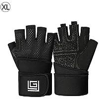 iBellete Fitness Handschuhe Atmungsaktive Rutschfeste Halbe Fingerhandschuhe für Gewichtheben Sport