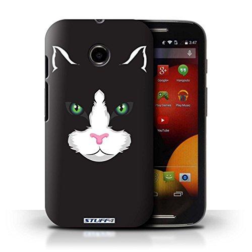 Kobalt® Imprimé Etui / Coque pour Motorola Moto E (2014) / Gorille/Chimpanzé/Singe conception / Série Museaux Chat noir