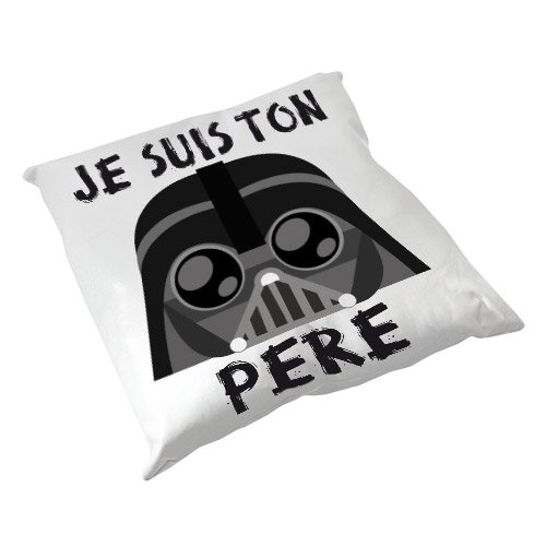 Coussin Décoration Dark Vador (Star Wars) Je suis ton Père Chibi Kawaii by Fluffy chamalow - Fabriqué en France - Chamalow Shop