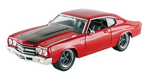 Jada Toys - 97193R - Chevrolet Doms Chevelle SS - Fast And Furious - Échelle 1/24 - Rouge