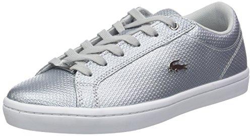 Lacoste Damen Straightset 318 2 Caw Sneaker, Weiß (SLV/Wht 19l), 40 EU