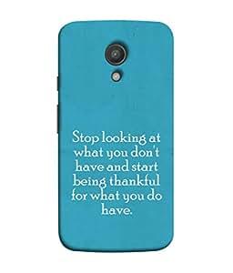 Fuson Designer Back Case Cover for Motorola Moto G2 :: Motorola Moto G (2nd Gen) (Stop Looking You Don't Have Ladies Gentelman)