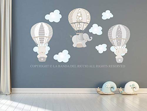 Le mongolfiere adesivi murali bambini stickers murali bambini