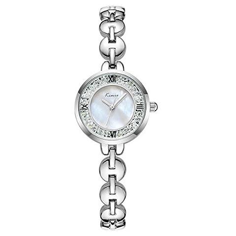 Wishar Love Diamant Anhänger Naturperle Schlüsselbein Halskette Kette, 925er Silber