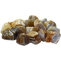 budawi® - Gelber Achat getrommelte Rohsteine Dekosteine, Brunnenstein Achat-Wassersteine getrommelt (ca.100g) preisvergleich bei billige-tabletten.eu