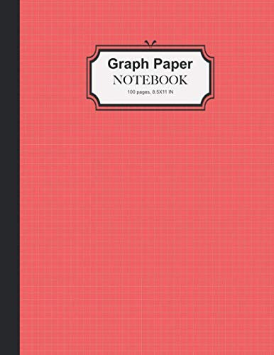 Graph Paper Notebook: Quad Rule 5x5 per Inch Composition Page Bound Comp Book, Grid Paper for Math, Science and Chemistry Student, RED Cover (Graph Paper Composition, Band 1) (School Band Kostüm)