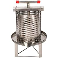 runnerequipment Pressa per Miele Manuale per Uso Domestico per Apicoltore a Cera in Acciaio Inossidabile