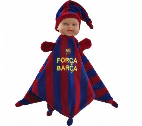 Paola Reina - Doudou FC Barcelona, muñeca bebé de vinilo, 34 cm (012