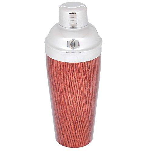 Kosma Edelstahl Cocktail Shaker | Cocktail Mixer mit Holz Finish | Mocktail Shaker - 750ml
